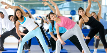 people in an aerobics class